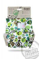 Appels Fluffy Organic One Size bamboeluier klittenband Petit Lulu