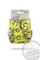 Fluffy Organic newborn luier Apenstreken Petit Lulu