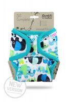 SIO Compleet Olifantjes Blauw Drukknoopjes Petit Lulu