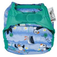 Close Pop-In newborn luier Puffin biolaminaat