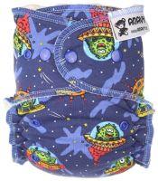 Alien One Size luier Anavy drukknoopjes