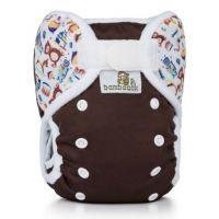 Overbroekje DUO Chocolade Speelgoed, klittenband, van Bamboolik