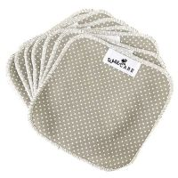 Dots Grey billendoekjes van WeeCare cloth wipes