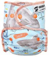 Haaien Anavy One Size luier drukknoopjes