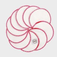Wasbare wattenschijfjes met roze rand van ImseVimse