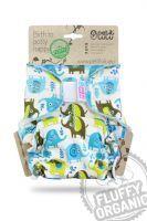 Fluffy Organic Maxi/Night Olifanten Klittenband Petit Lulu