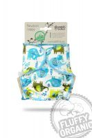 Fluffy Organic newborn luier Olifanten Petit Lulu