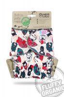 Japan Fluffy Organic One Size luier drukknoopjes Petit Lulu
