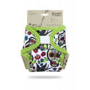 Overbroekje Mexicaanse Schedels Wit Petit Lulu klittenband