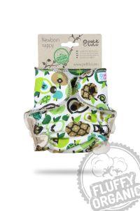 Fluffy Organic newborn luier Appels Petit Lulu