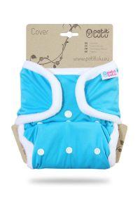 Blauw One Size overbroekje Petit Lulu met drukknoopjes