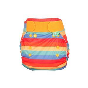 Rainbow Stripe Bamboozle wrap overbroekje TotsBots