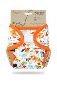 One Size overbroekje Gekke Dieren Petit Lulu klittenband