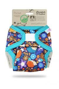 Olifantjes Blauw klittenband pocketluier Petit Lulu