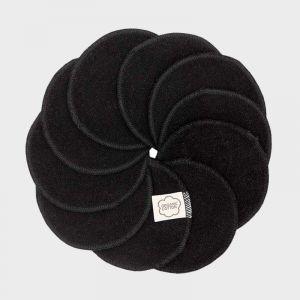 Zwarte wasbare wattenschijfjes van Imse biologisch katoen