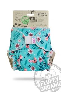 Fluffy Organic Maxi/Night Lieveheersbeestjes Klittenband Petit Lulu