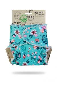 Lieveheersbeestjes Fluffy Organic One Size luier drukknoopjes Petit Lulu