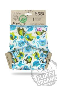 Maxi Night Fluffy Organic Olifanten drukknoopjes