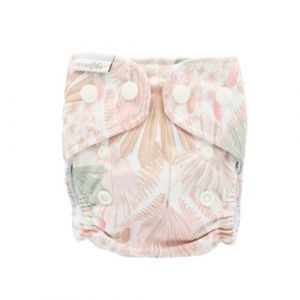 Pastel Fronds newborn Recycled hennep luier Bare and Boho