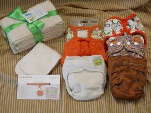 Newborn luiers proefpakket wasbare luiers