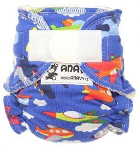 Anavy Newborn bamboeluier piraten klittenband