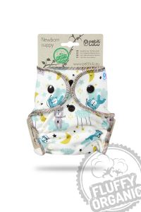 Fluffy Organic newborn luier Welterusten Petit Lulu