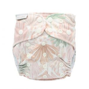 Pastel Fronds Recycled One Size bamboe luier Bare and Boho