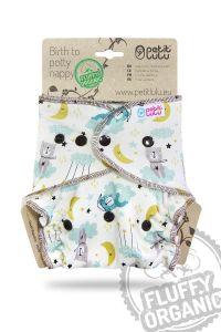 Welterusten Fluffy Organic One Size luier drukknoopjes Petit Lulu