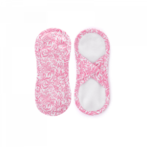 Satijnen maandverband Ornament Roze Wit