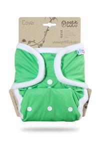 Groen One Size overbroekje Petit Lulu met drukknoopjes
