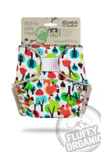 Fluffy Organic Maxi/Night Eekhoorns Klittenband Petit Lulu