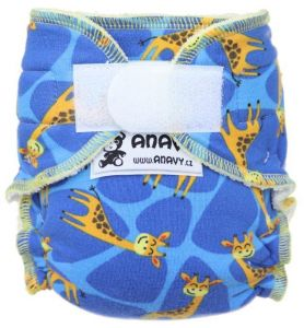 Anavy newborn luier Giraffe met klittenband