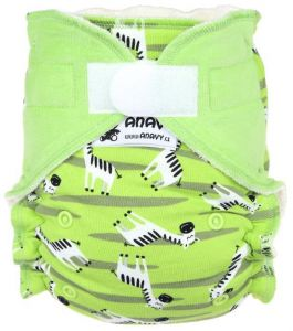 Zebra Anavy One Size bamboeluier met klittenband