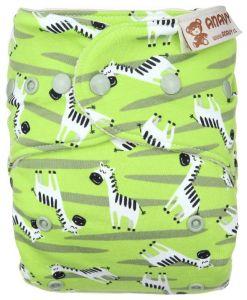 Zebra One Size wolbroek drukknoopjes Anavy